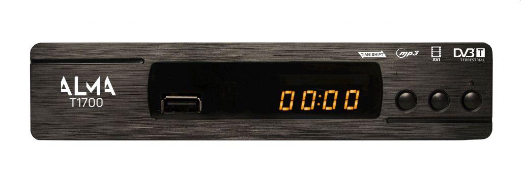DVB-T přijímač Alma T1700 SCART PVR USB