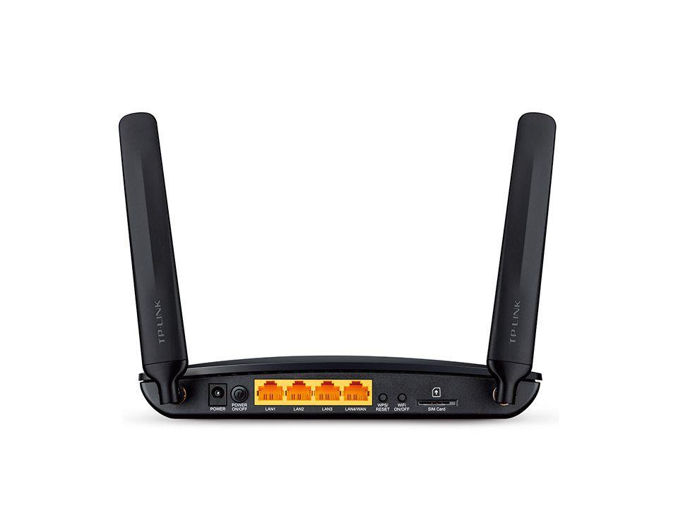 Modem TP-Link TL-MR6400 s WiFi routerem, 3x LAN, 1x WAN, 1x slot SIM, 300Mbps 2,4