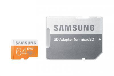 Paměťová karta Samsung Micro SDXC 64GB Samsung EVO class 10 + adaptér