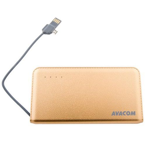 Baterie Avacom externí PWRB-6000AU Li-Ion články SONY, 6000mAh, 5V/2.1A, barva champagne