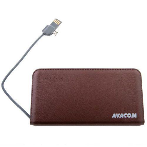 Baterie Avacom externí PWRB-6000AU Li-Ion články SONY, 6000mAh, 5V/2.1A, barva hnědá