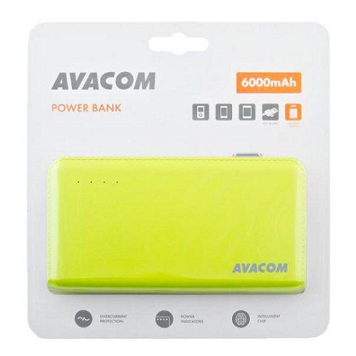 Baterie Avacom externí PWRB-6000AU Li-Ion články SONY, 6000mAh, 5V/2.1A, barva zelená