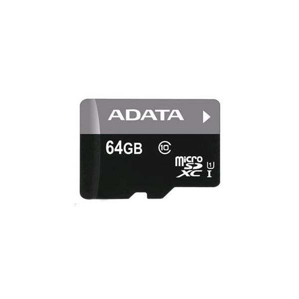 Paměťová karta Adata 64GB MicroSDXC Premier ,class10 with Adapter