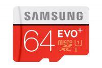 Paměťová karta Samsung micro SDXC Class 10 64GB EVO PLUS + adaptér