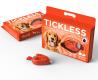 Ultrazvukový repelent TickLess Pet proti klíšťatům, oranžový