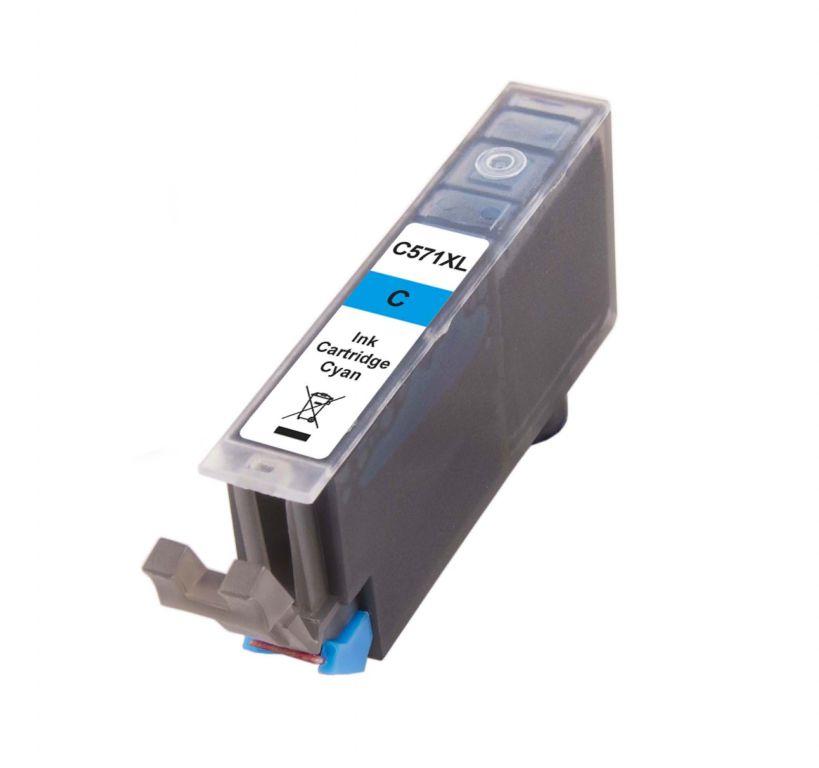 Inkoust CLI-571C XL kompatibilní azurový pro Canon (13ml)