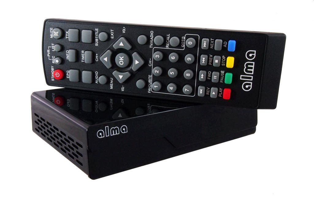DVB-T přijímač Alma 2770 DVB-T2 HD, černý
