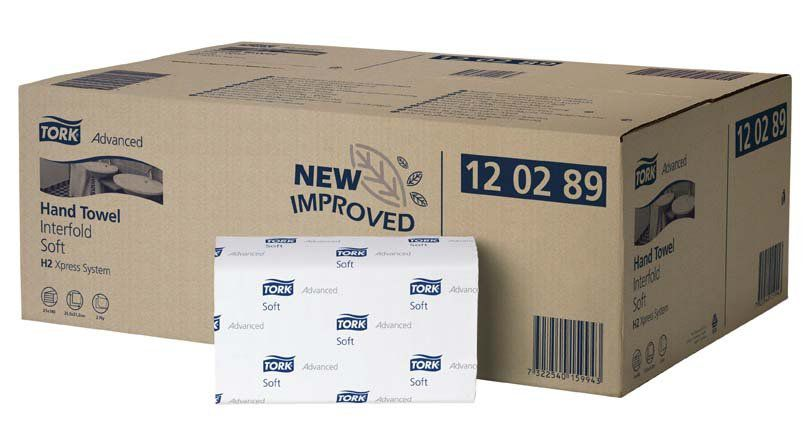 Ručníky Tork Advaced Soft Xpress papírové skládané, bílá H2, 21x136ks