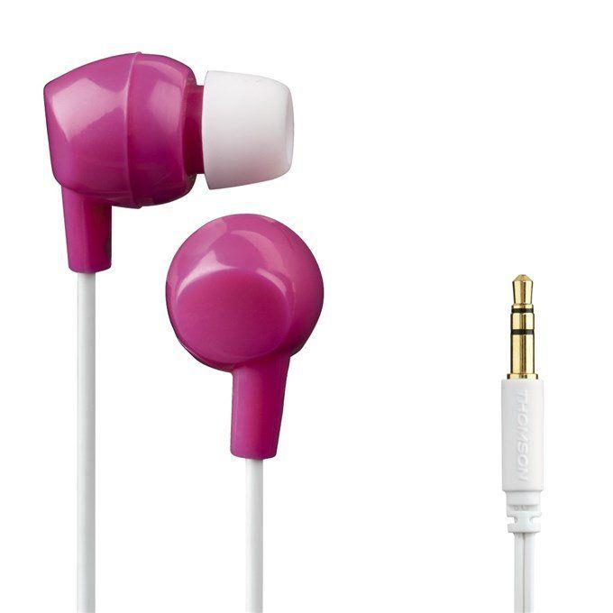 Sluchátka Hama Thomson EAR3106 - silikonové špunty, růžová/bílá