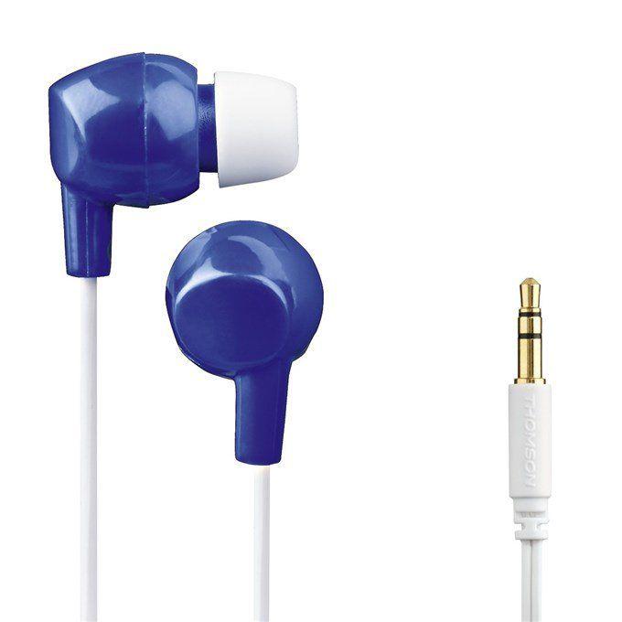 Sluchátka Hama Thomson EAR3106 - silikonové špunty, modrá/bílá