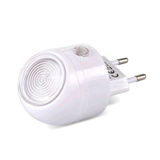 LED lampička Solight WL83 světelný senzor, plug-in, bílé, vypínač senzoru