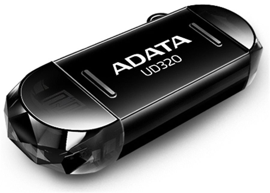 Flashdisk Adata UC320 16GB USB 2.0 OTG černá (pro smartphony a tablety)