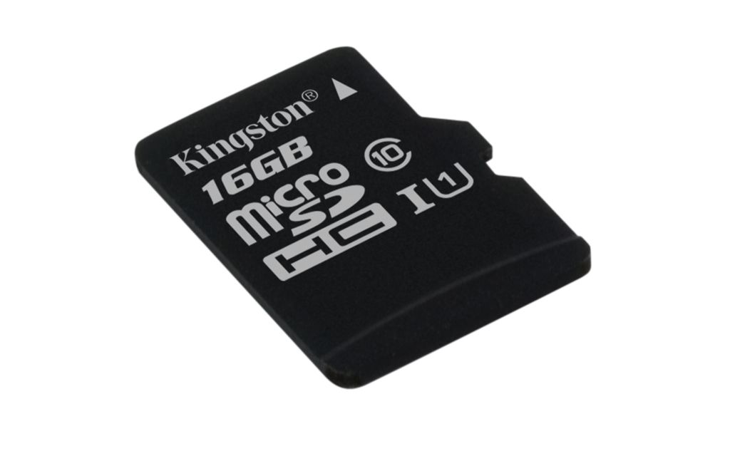 Paměťová karta Kingston microSDHC Class 10 16GB, UHS-I U1 45R/10W
