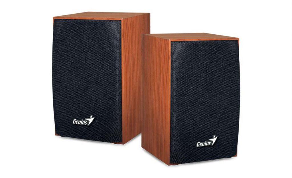 Repro Genius Speaker SP-HF160 wooden SPK 2WX2 USB, wood