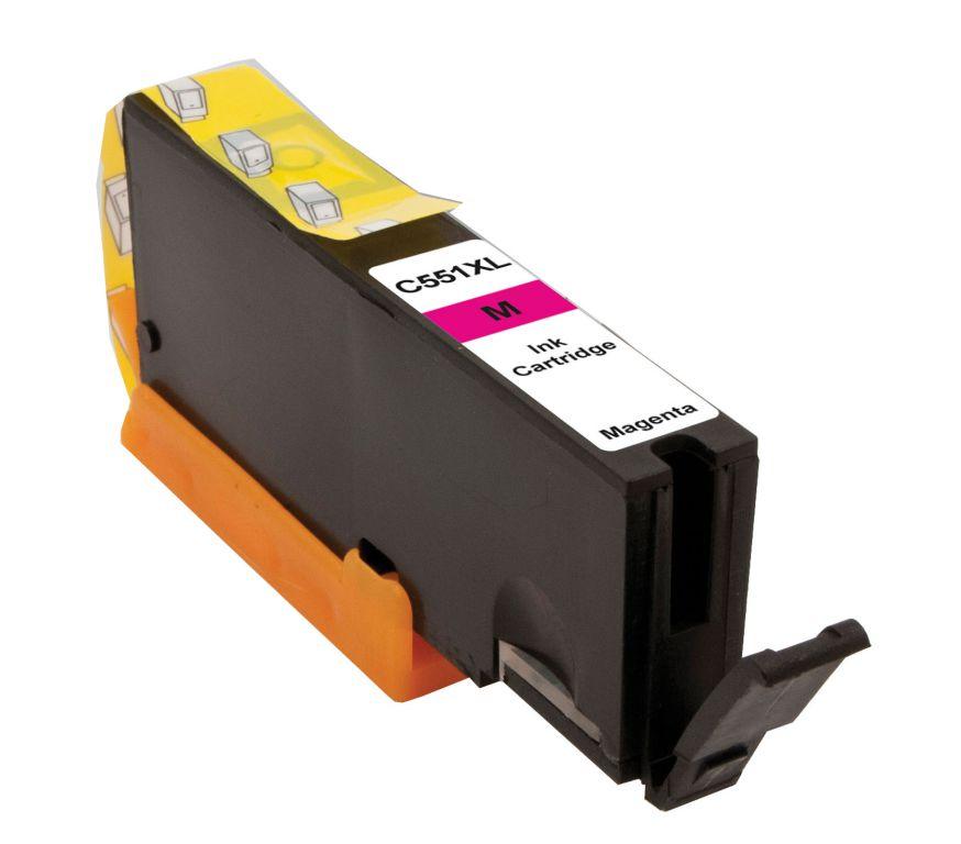 Inkoust Peach CLI-551M XL kompatibilní purpurový PI100-165 pro Canon Pixma MG5450 (13ml) - poškozený obal