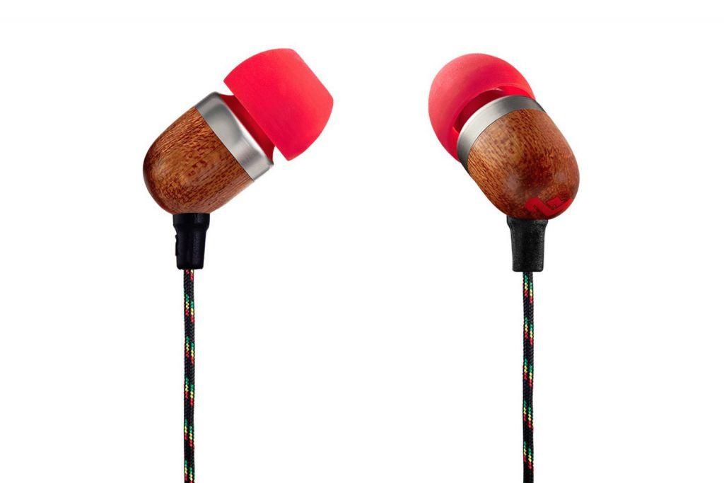 Sluchátka Marley  Smile Jamaica - Fire, sluchátka do uší s ovladačem a mikrofonem