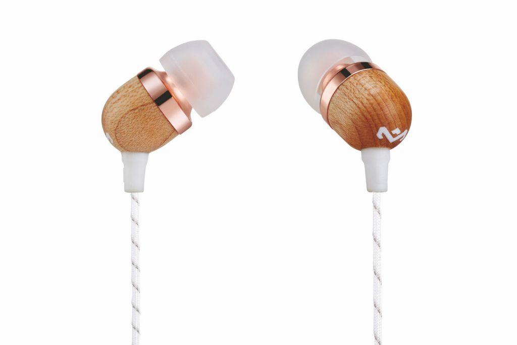 Sluchátka Marley  Smile Jamaica - Copper, sluchátka do uší s ovladačem a mikrofonem