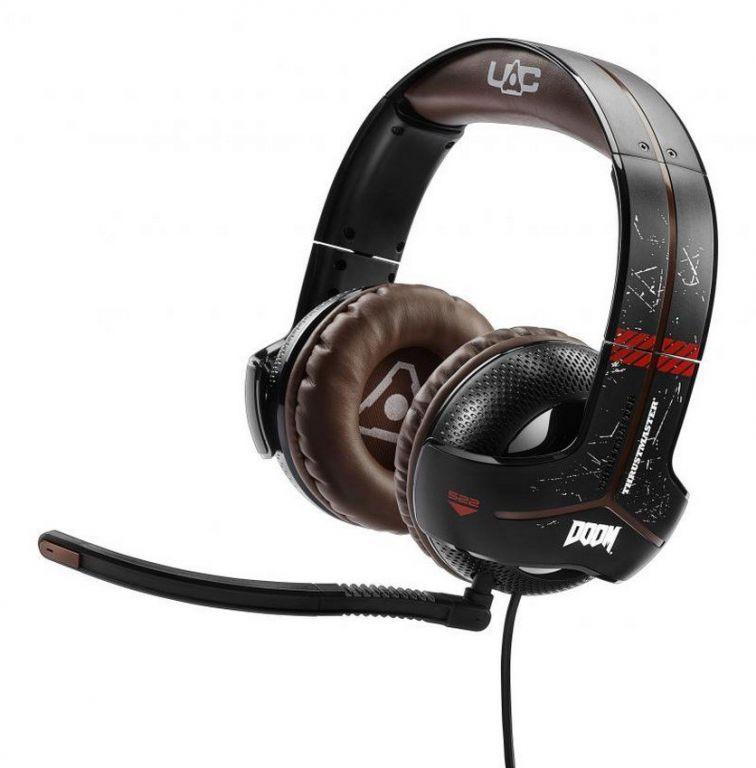 Sluchátka Thrustmaster Y-300CPX DOOM edice pro PS4, PS3, Xbox, PC a Mac s mikrofonem