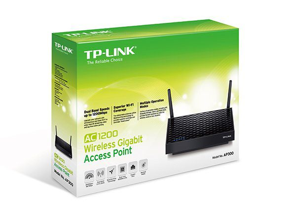 WiFi router TP-Link AP300 AC1200 dual AP/repeater, 1x GLAN,/ 300Mbps 2,4GHz/ 867Mbps 5GHz