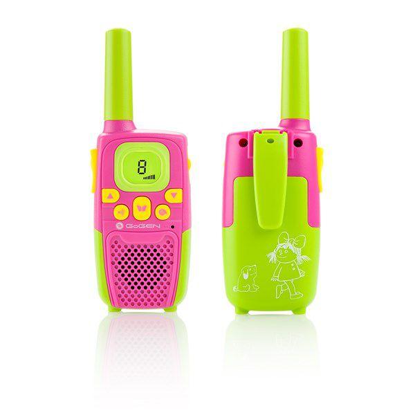 Vysílačka GoGEN MAXI P růžovo-zelená barva, 2 ks