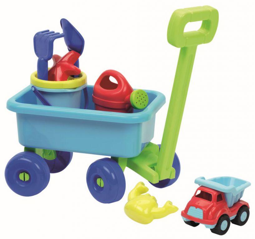 Hračka Ecoiffier Vozík s konvičkou a setem na písek