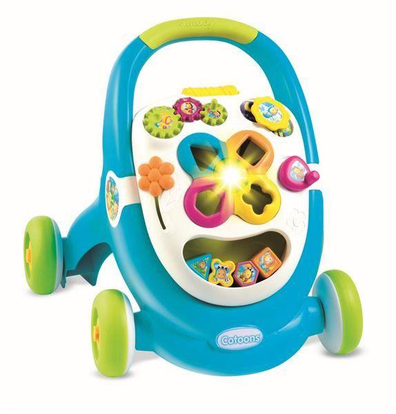 Hračka Cotoons chodítko Walk&Play modré
