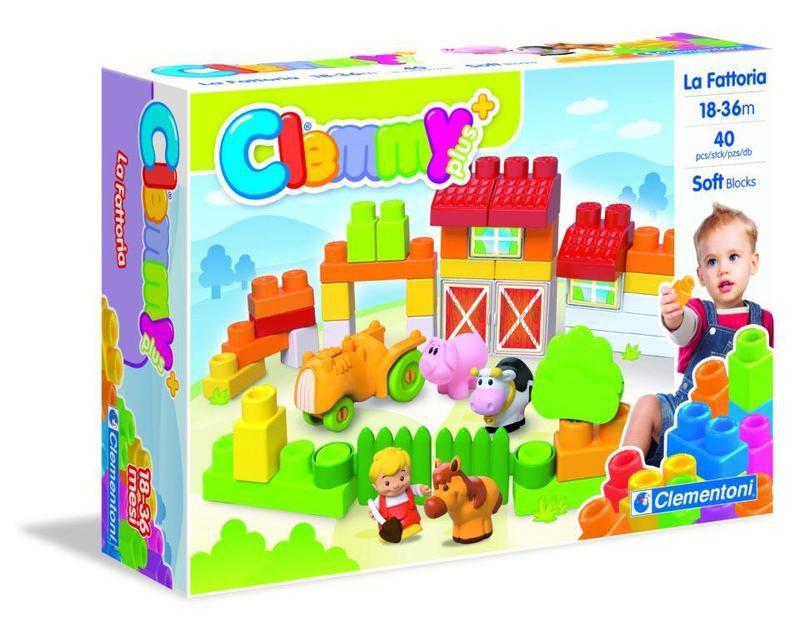 Stavebnice Clementoni Clemmy plus - Farma (40+4+1 kostek)