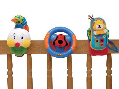 Sada K'S Kids Veselé trio - přichycení suchým zipem (telefon, volant, stonožka)