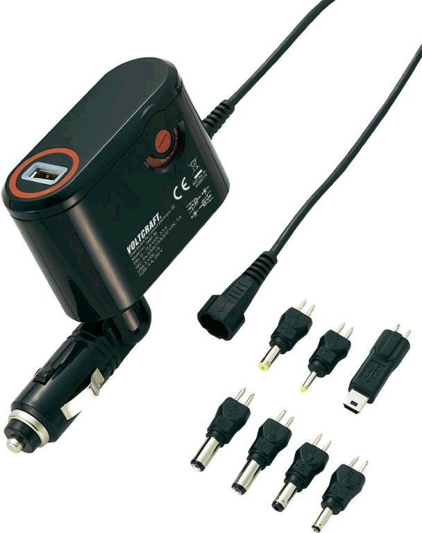 Napěťový měnič Voltcraft SMP -36 do auta s USB + sada konektorů 12V/3-12V-3A
