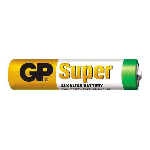 Baterie GP Super Alkaline mikrotužka 1,5V, LR03 AAA, 1 ks