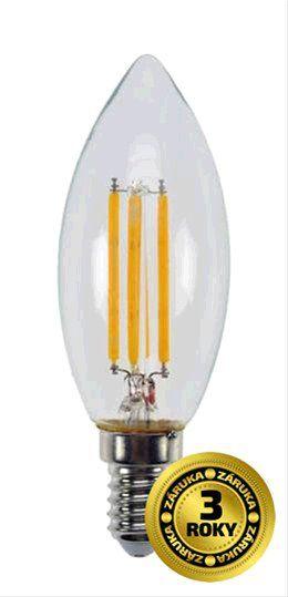 Žárovka Solight LED E14, 230V, 4W, 440lm, teplá bílá, retro, svíčka