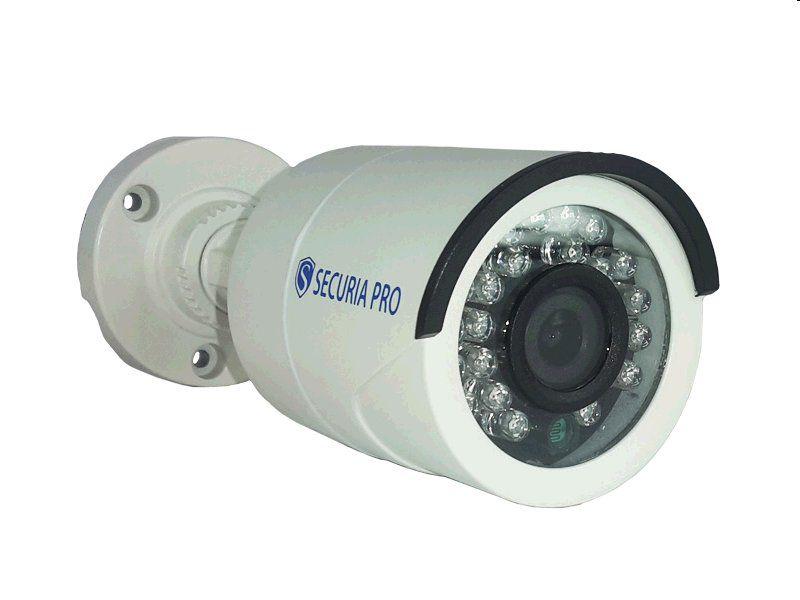 Kamerový set Securia Pro AHD4CHV1-W AHD DVR + 4 analogové kamery - bílá