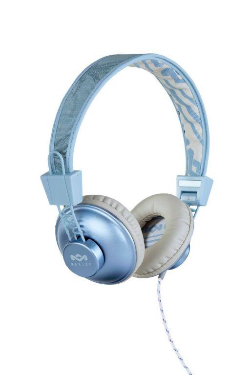 Sluchátka Marley  Positive Vibration Blue Hemp s ovladačem a mikrofonem