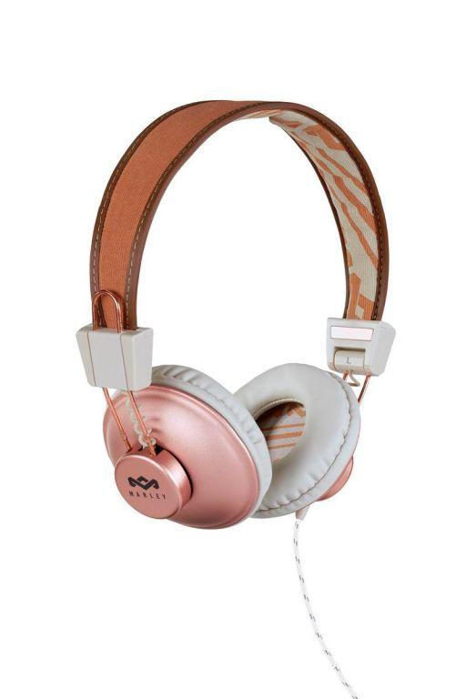 Sluchátka Marley  Positive Vibration Copper s ovladačem a mikrofonem