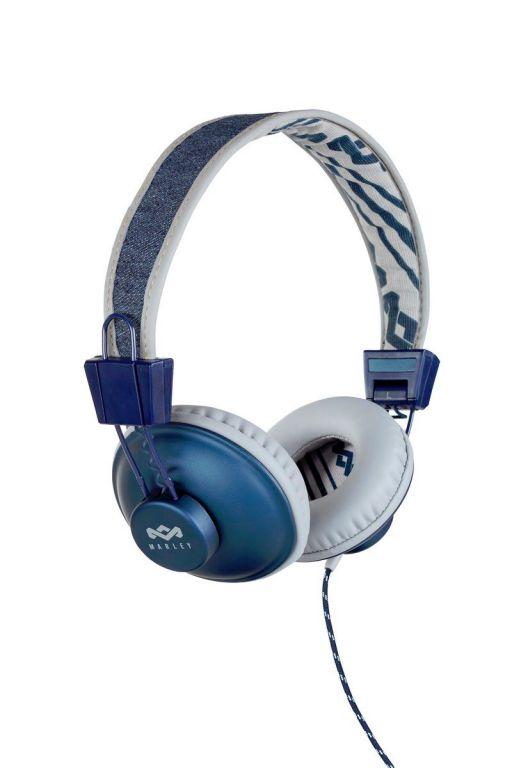 Sluchátka Marley  Positive Vibration Denim s ovladačem a mikrofonem