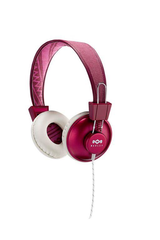 Sluchátka Marley  Positive Vibration Purple s ovladačem a mikrofonem