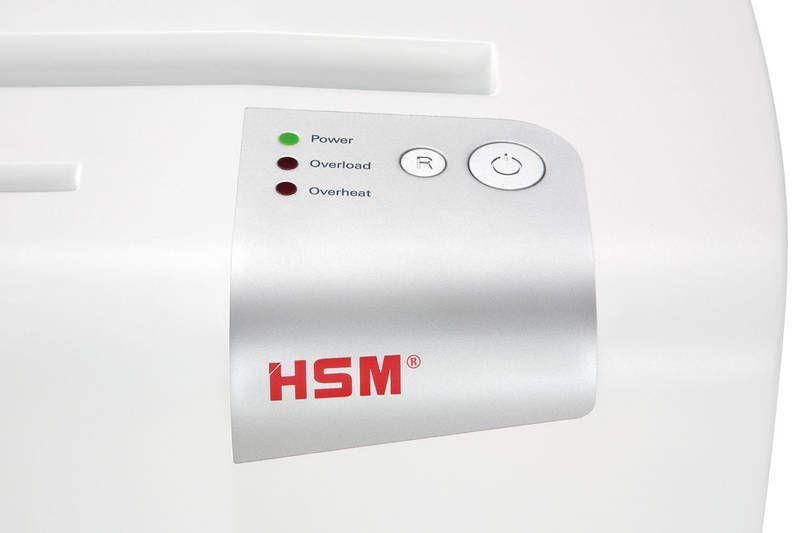 Skartovač HSM Shredstar S10 White, DIN P-2, proužek 6mm, 10 listů, 18l, CD+DVD, Credit Card, Sponky