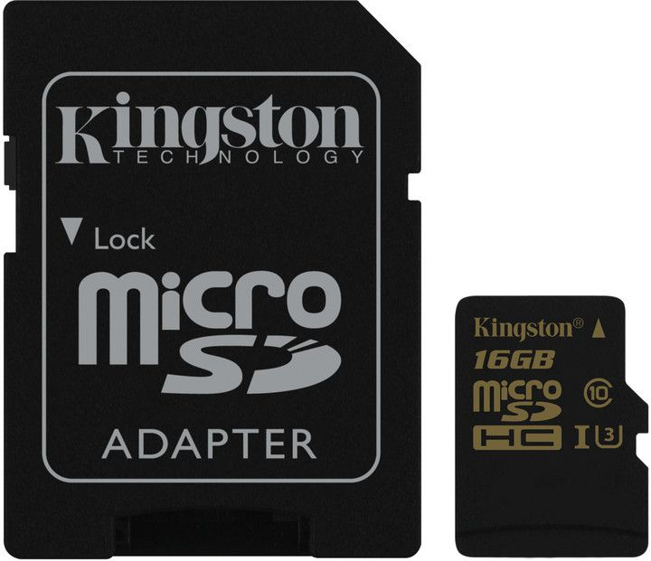 Paměťová karta Kingston microSDHC UHS-I U3 16GB, 90R/45W