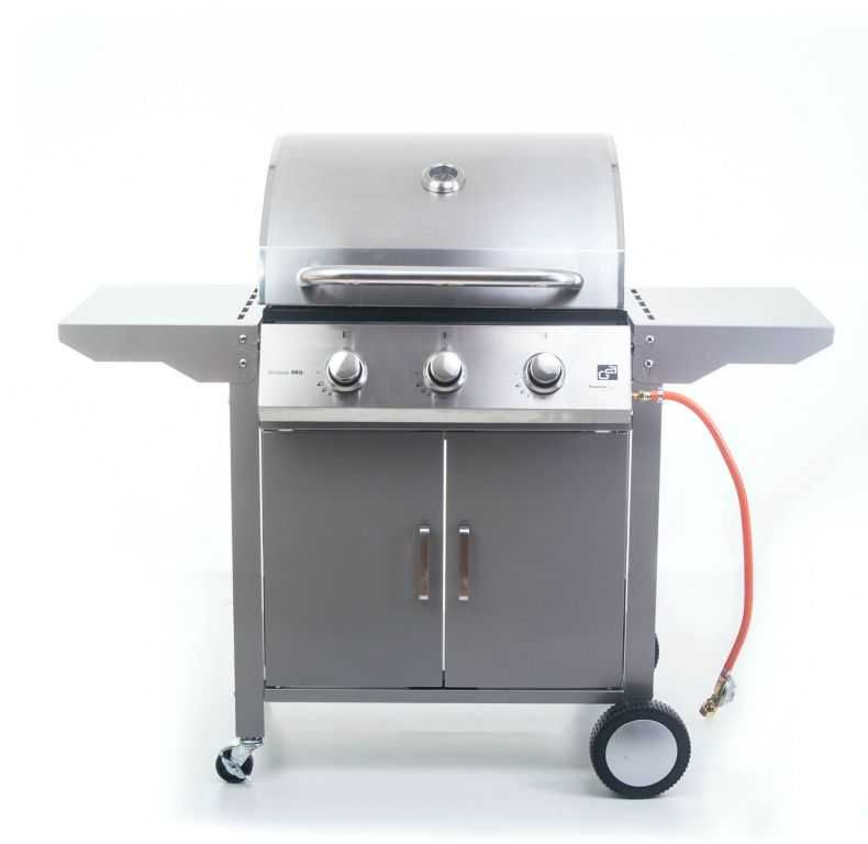 Plynový gril G21 Oklahoma, BBQ Premium Line 3 hořáky + zdarma redukční ventil