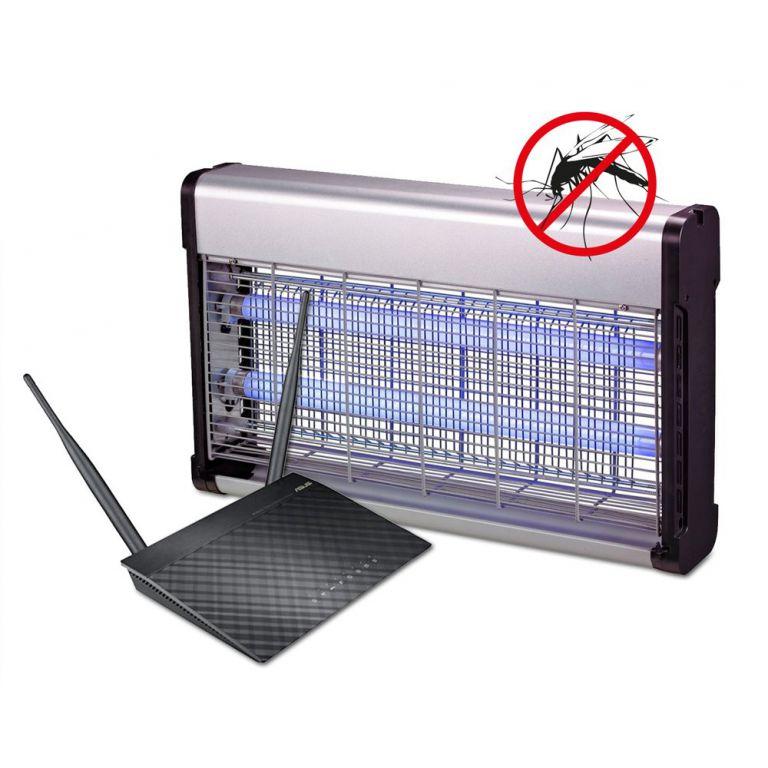 WiFi router Asus RT-N12 verze D 20pack + Lapač hmyzu G21 GT-40 zdarma