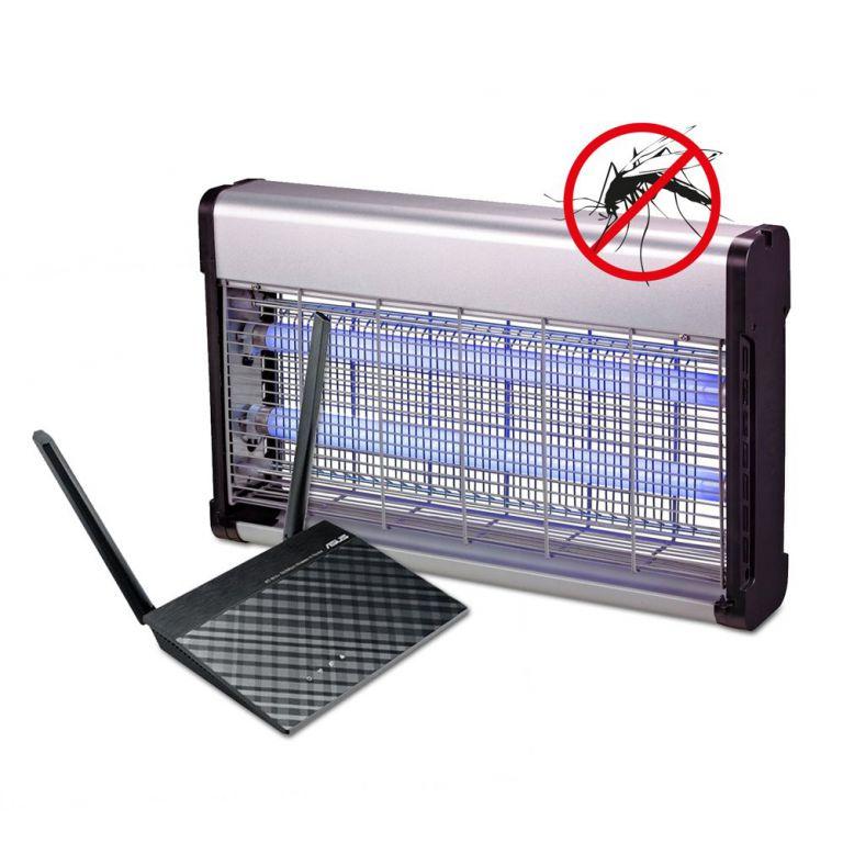 WiFi router Asus RT-N12plus 20pack + Lapač hmyzu G21 GT-40 zdarma
