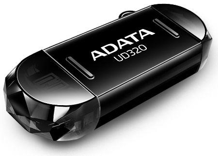 Flashdisk Adata UC320 64GB USB 2.0 OTG černá