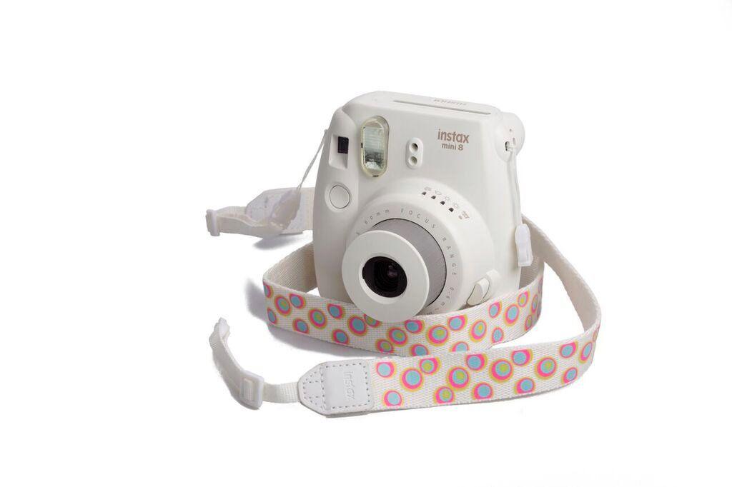 Popruh Fujifilm Instax neck strap White/Design dotes