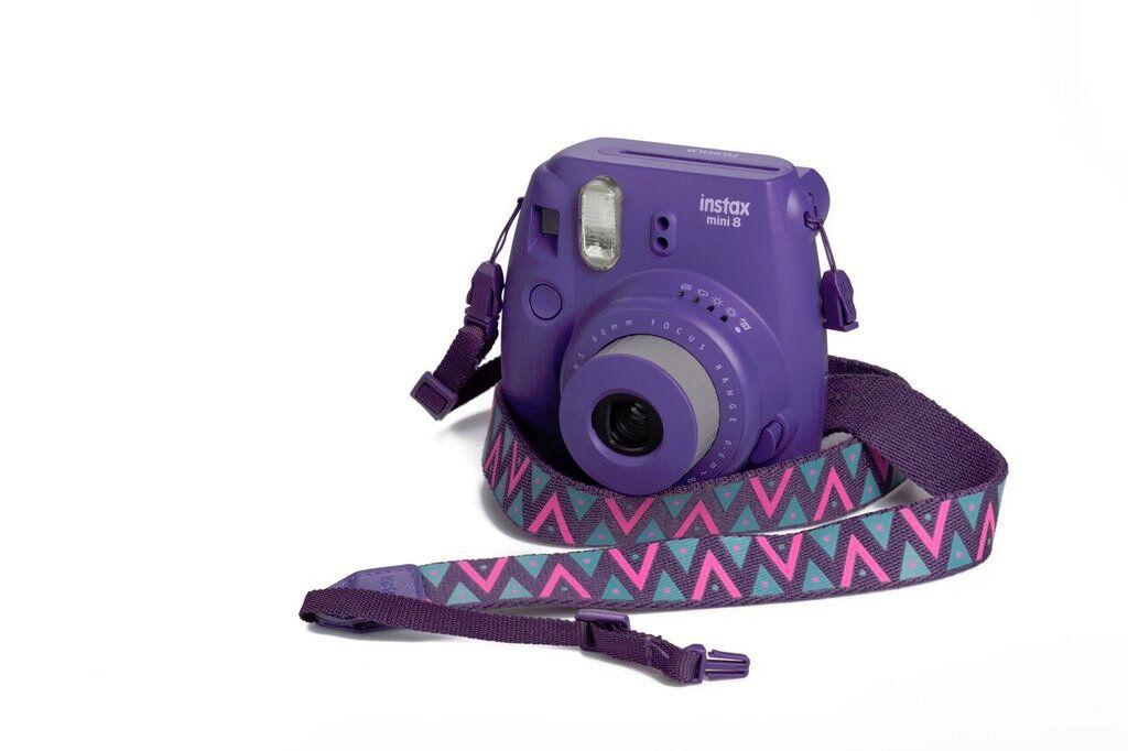 Popruh Fujifilm Instax neck strap Special Purple/Triangles