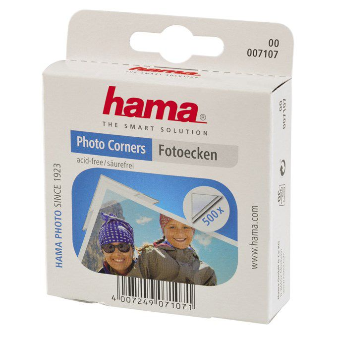 Příslušenství Hama fotorůžky samolepící transparentní, 500 ks