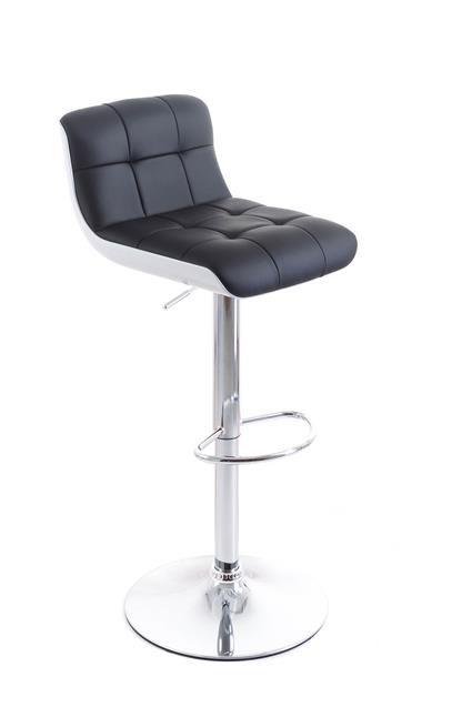 Barová židle G21 Treama koženková černo/bílá