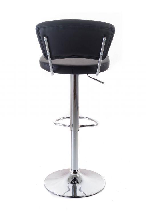 Barová židle G21 Redana black, koženková s opěradlem
