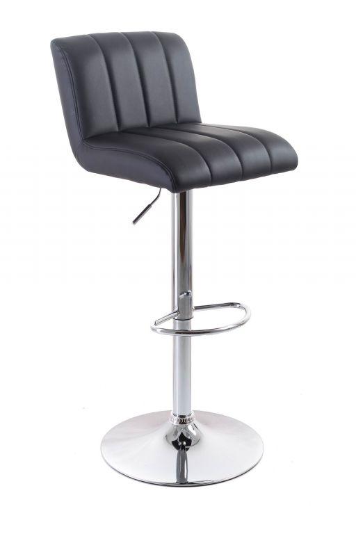 Barová židle G21 Malea black, koženková, prošívaná