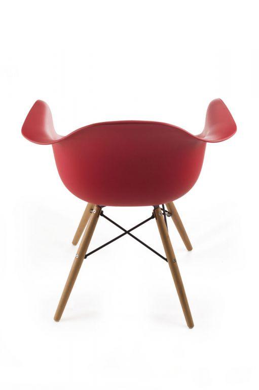 Designová židle G21 Lumber Red