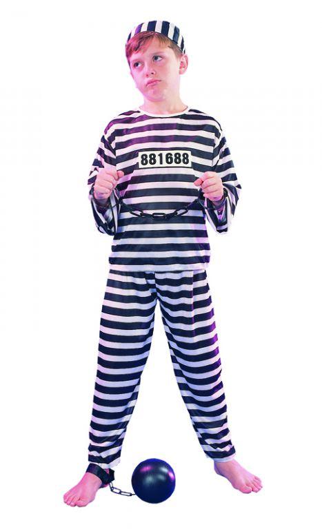 Karnevalový kostým Trestanec (vězeň) 130 - 140cm